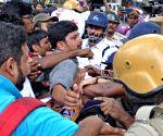 SFI, DFYI's protest