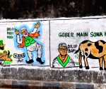 Political wall graffiti during State Assembly election.