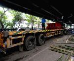 Pre-demolition work starts at Posta flyover (Vivekananda flyover) in Kolkata.