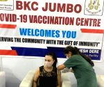 Free Photo: Preity Zinta is vaccinated