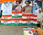 Preparation for Sonia Gandhi's rally