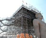 Channarayapatna (Karnataka): Mahamastakabhisheka of monolithic statue of Lord Bahubali - preparations