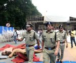 Preparations for Mamata Bannerjee's swearing-in ceremony