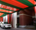 2019 Lok Sabha elections - Preparations underway at BJP headquarters on the eve of counting day