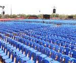 Preparations underway for PM Modi's election rally