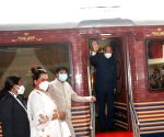 Free Photo:  President Kovind takes train to his native place in UP