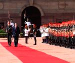 Recep Tayyip Erdogan inspecting Guard of Honour