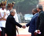 Ceremonial Reception for Mozambiquean President