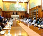 President Mukherjee meets Innovation Scholars and Writers/Artists