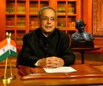 President Mukherjee addresses the nation