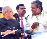 "President Mukherjee lays foundation stone of ""Bengaluru Dr. B. R Ambedkar School of Economics"