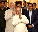 "President Pranab Mukherjee - A Statesman""  - book launch"