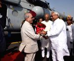 President Mukherjee arrives at Patna airport