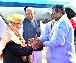 President Mukherjee at HAL Airport