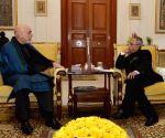 Hamid Karzai meeting the President, Pranab Mukherjee