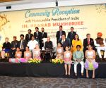 President Mukherjee during a Indian community reception