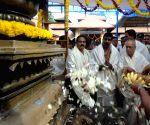 President Mukherjee visits Mookambika Temple