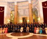 President Mukherjee meets probationary officers of Indian Railways