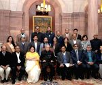 President Mukherjee with Managing Committee of PCI