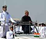 President Mukherjee inspects guard of honour
