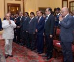 President Mukherjee meets civil servants