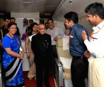 President Mukherjee on board at Air India Special aircraft Boeing 747-400
