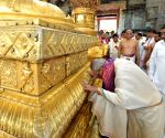 President Mukherjee at Lord Venkateswara temple