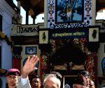 President Mukherjee visits Pashupatinath Temple