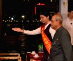 President Mukherjee goes on a boat cruise in China
