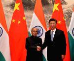 President Mukherjee meets Xi Jinping