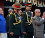 President Mukherjee at Army Day reception