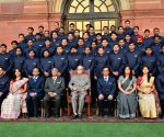 President Mukherjee with probationers of IOFS