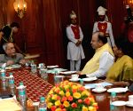 President Pranab Mukherjee with Finance Minister