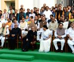 President Pranab Mukherjee with West Bengal Chief Minister Mamata Banerjee during the Valedictory Ceremony of the Platinum Jubilee Celebrations of West Bengal Legislative Assembly