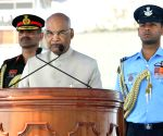 President Kovind presents Standards to 118 Helicopter Unit and Colours to Air Defence College