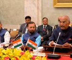 New Delhi: Ram Nath Kovind chairs the meeting with Directors of NITs, IIEST, SPAs, IIIT and IITs(PPP)