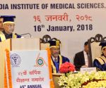 President Kovind, J.P. Nadda at 45th Convocation of AIIMS