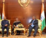 President Kovind- Ismail Omar Guelleh during delegation level talks