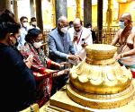 President Kovind offers pareysrs at Sri Padmavathi Ammavari Temple during his visit to Andhra