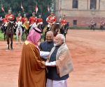 Saudi Crown Prince receives ceremonial reception at Rashtrapati Bhawan