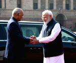 Ceremonial Reception for Sri Lankan President at Rashtrapati Bhavan