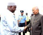 President Kovind arrives in Banjul Airport
