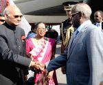 Ambouli (Djibouti): President Kovind arrives at Djibouti