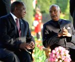 President Kovind, South African President, PM Modi during 'At Home' reception
