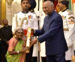President Kovind presents Padma Awards - Saalumarada Thimmakka