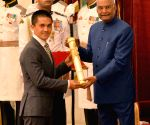 President Kovind presents Padma Awards - Sunil Chettri