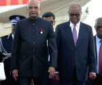 Ram Nath Kovind arrives in Swaziland