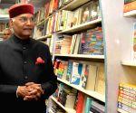 Kovind visits a book shop