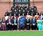President Kovind meets 2017 batch IFS Officer Trainees