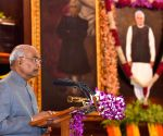 President Ram Nath Kovind, unveils the portrait of former Prime Minister, Atal Bihari Vajpayee